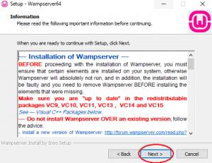 تصویر خواندن اطلاعات درباره wamp